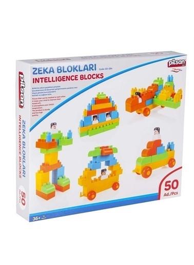 Pilsan Pilsan Smart Zeka Blokları - Zeka Blokları Kutulu 50 Parça Renkli